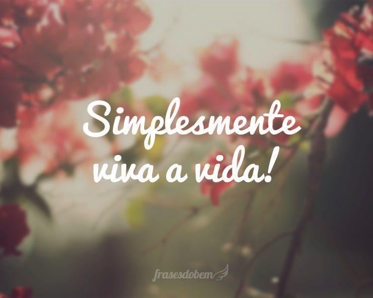 Simplesmente viva a vida!