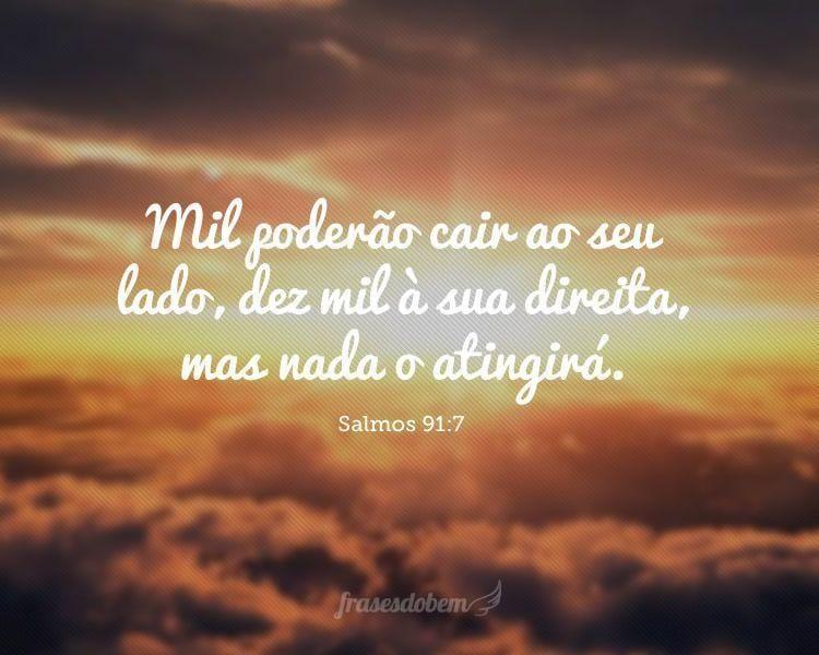 Mil poderão cair ao seu lado, dez mil à sua direita, mas nada o atingirá. (Salmos 91:7)