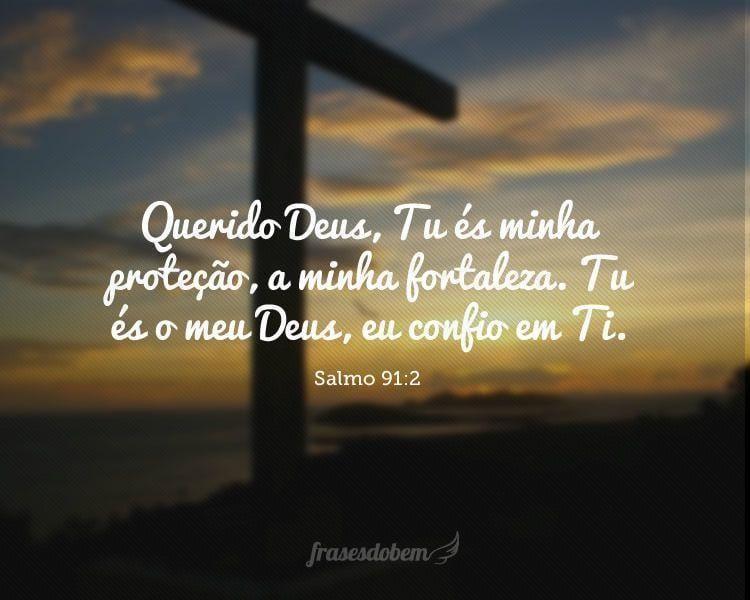 Querido Deus, Tu és minha proteção, a minha fortaleza. Tu és o meu Deus, eu confio em Ti. (Salmo 91:2)