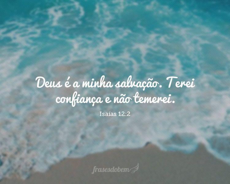 Deus é a minha salvação. Terei confiança e não temerei.(Isaías 12:2)