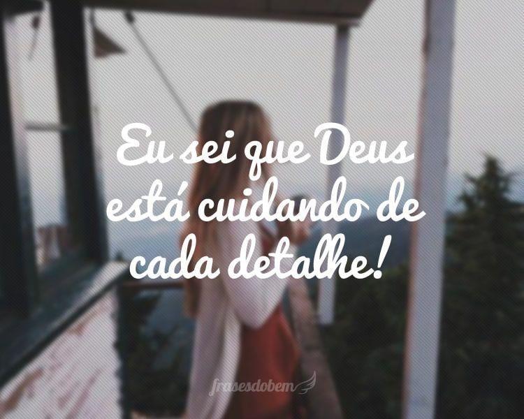 Eu sei que Deus está cuidando de cada detalhe!