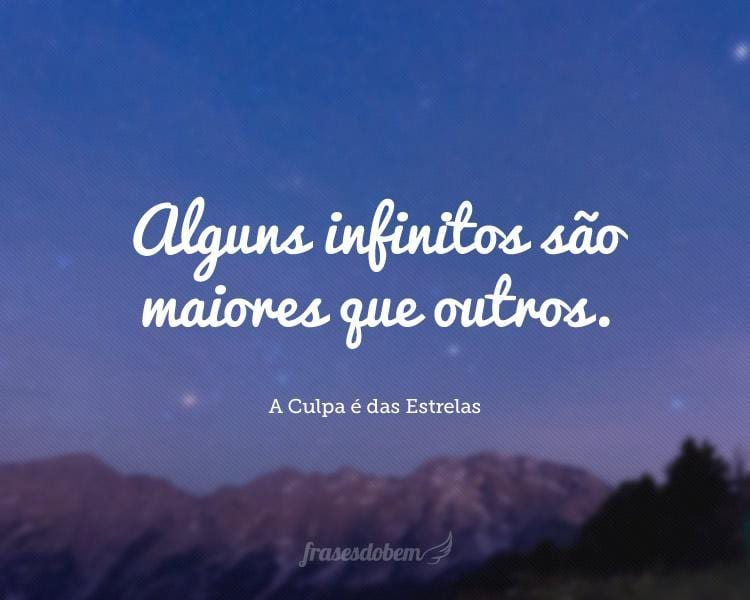 Alguns infinitos são maiores que outros.