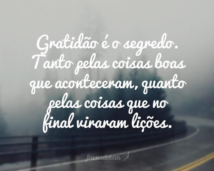 Frases De Gratidão