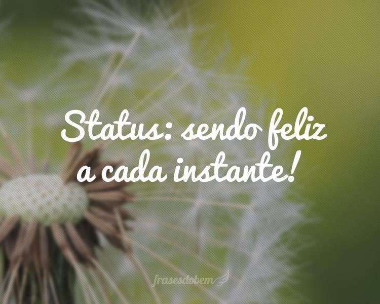 Status: sendo feliz a cada instante!