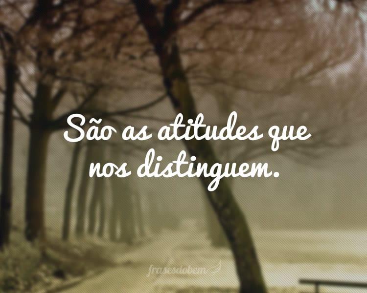 São as atitudes que nos distinguem.
