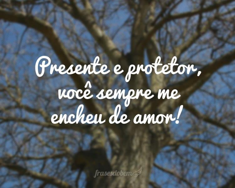 Presente e protetor, você sempre me encheu de amor!