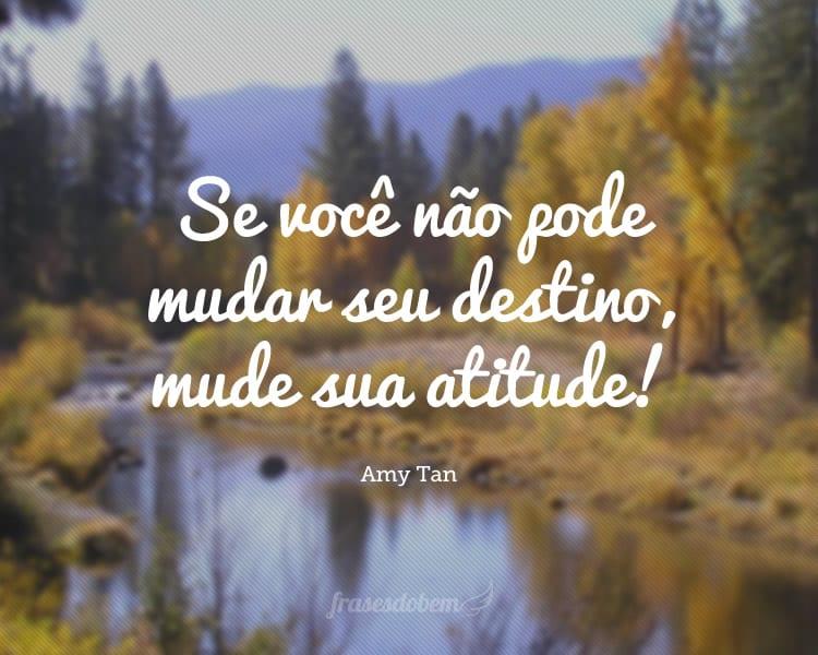 Se você não pode mudar seu destino, mude sua atitude!