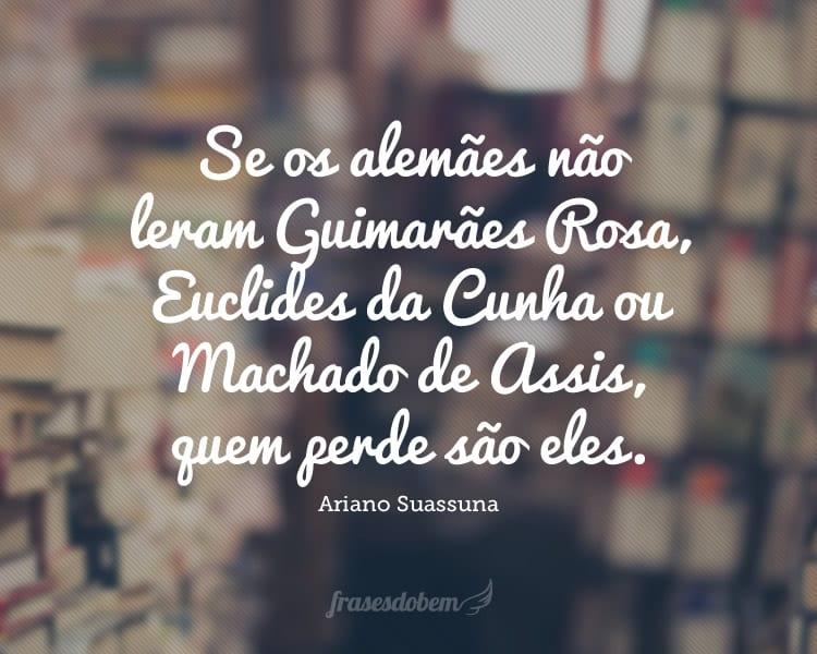 Se os alemães não leram Guimarães Rosa, Euclides da Cunha ou Machado de Assis, quem perde são eles.