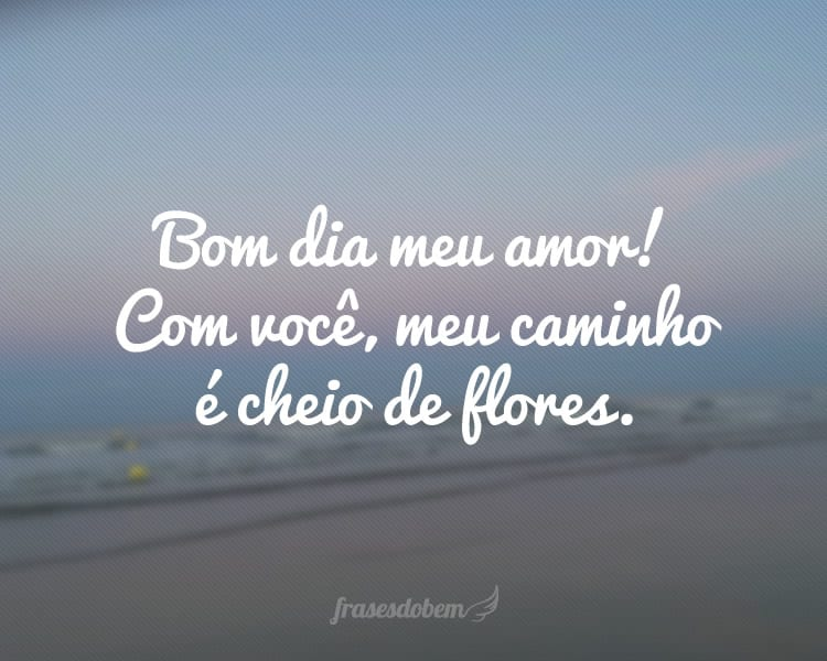 Bom Dia Meu Amor Mensagem Com Flores: Frases De Bom Dia Com Amor
