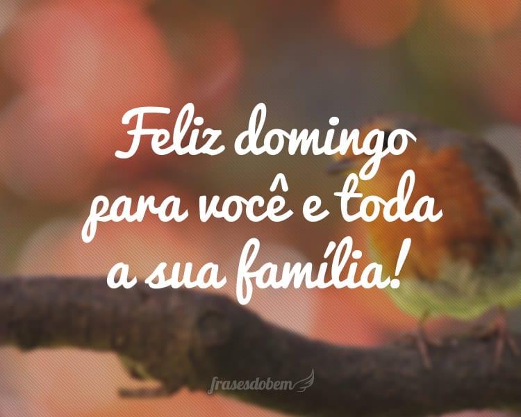 Deus Abençoe Você E Toda A Sua Família: Frases De Bom Domingo