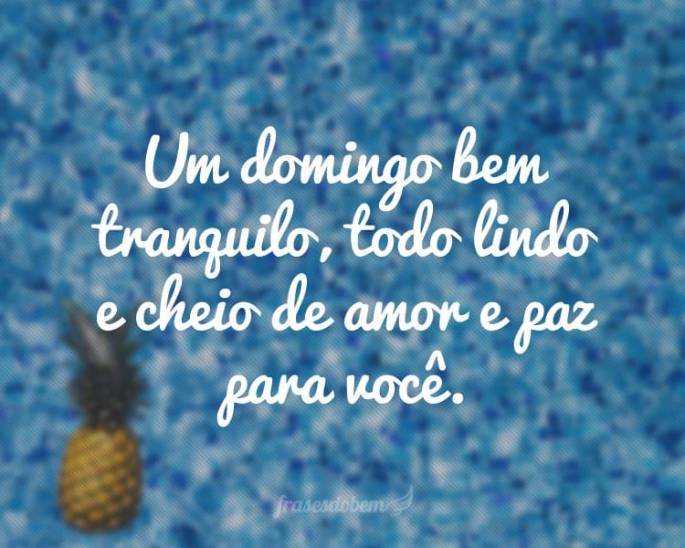 Frases De Bom Domingo: Foto Bom Dia Com Muito Amor Timo Domingo Para Todos Ksh