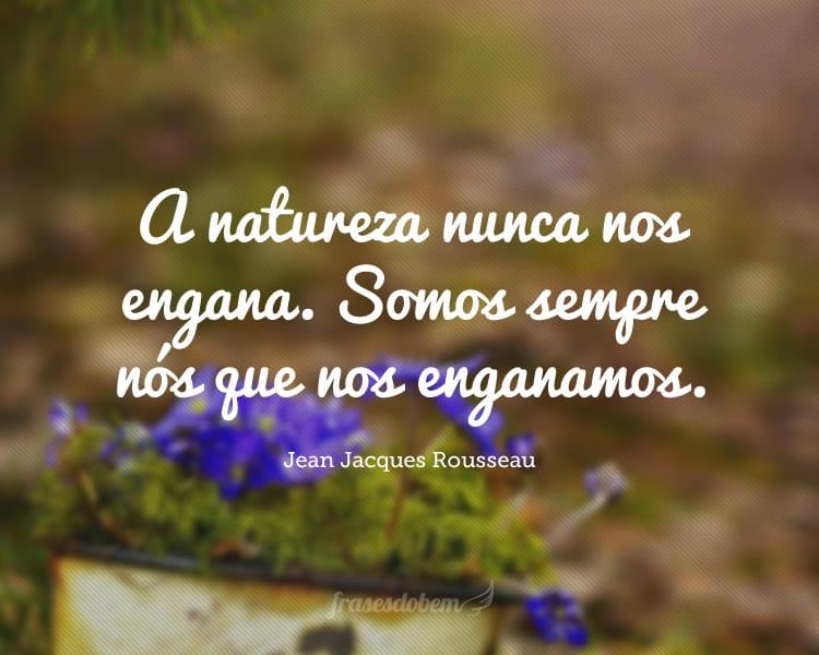 A natureza nunca nos engana. Somos sempre nós que nos enganamos.