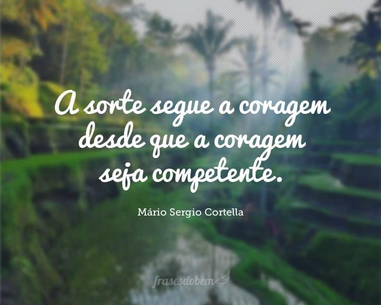 A sorte segue a coragem desde que a coragem seja competente.