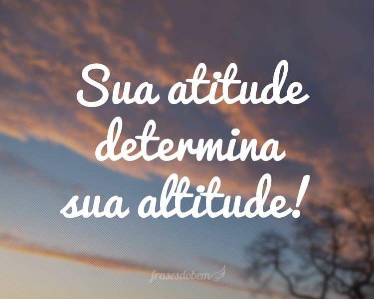 Sua atitude determina sua altitude!