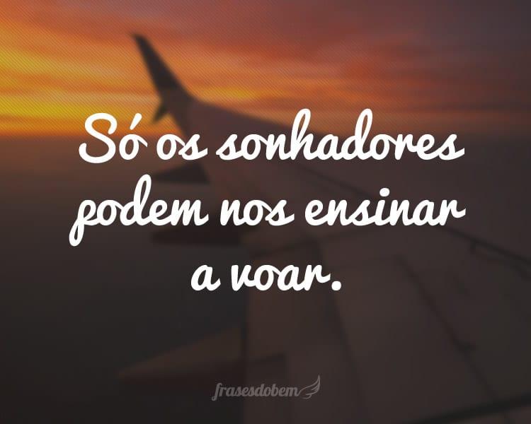 Só os sonhadores podem nos ensinar a voar.