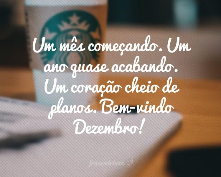 Um mês começando. Um ano quase acabando. Um coração cheio de planos. Bem-vindo Dezembro!