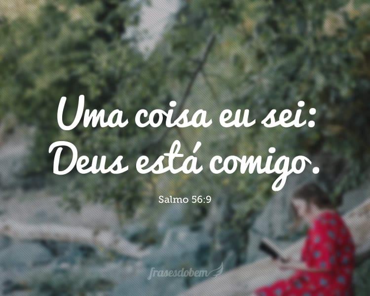 Uma coisa eu sei: Deus está comigo. (Salmo 56:9)