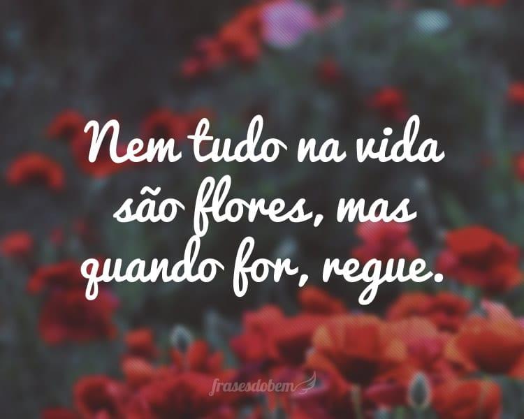Nem tudo na vida são flores, mas quando for, regue.
