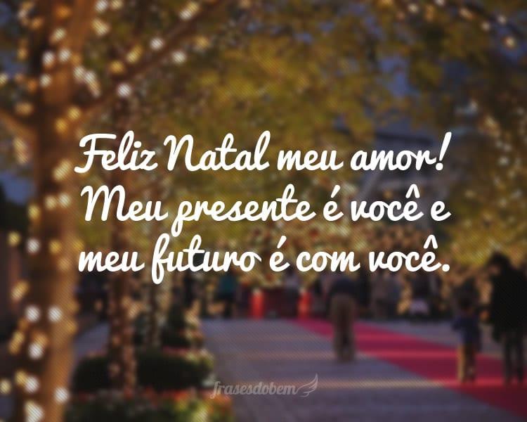 Feliz Natal meu amor! Meu presente é você e meu futuro é com você.