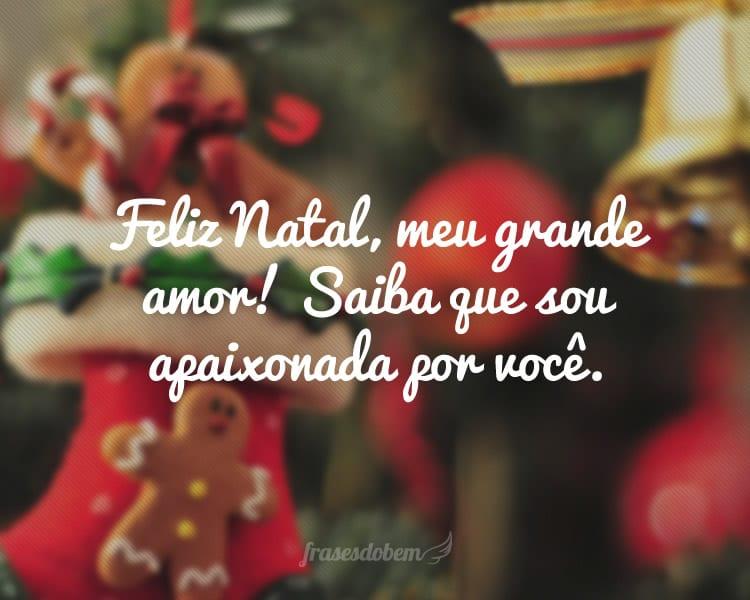 Feliz Natal, meu grande amor! Saiba que sou apaixonada por você.