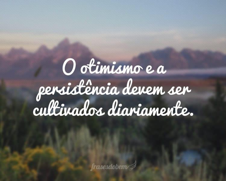 O otimismo e a persistência devem ser cultivados diariamente.