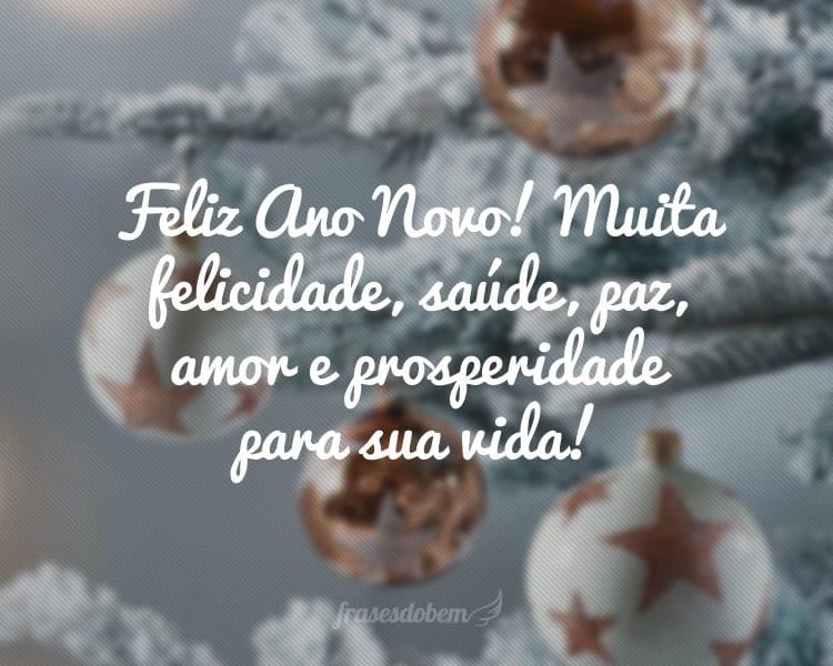 Feliz Ano Novo! Muita felicidade, saúde, paz, amor e prosperidade para sua vida!