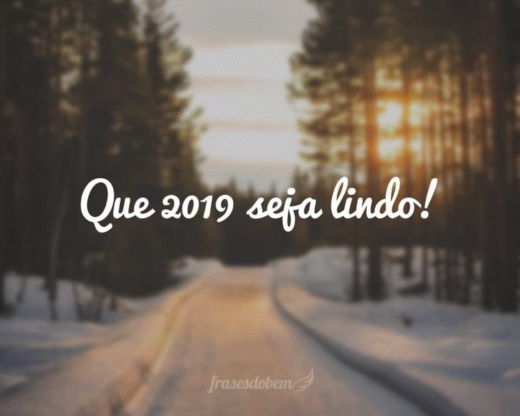 Que 2019 seja lindo!