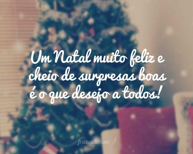 Um Natal muito feliz e cheio de surpresas boas é o que desejo a todos!