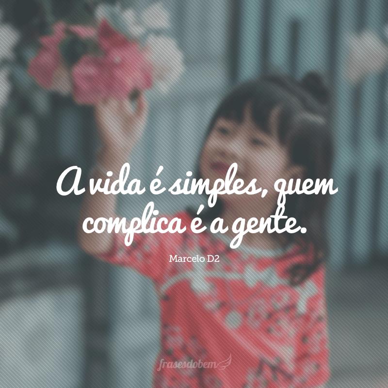 A vida é simples, quem complica é a gente.