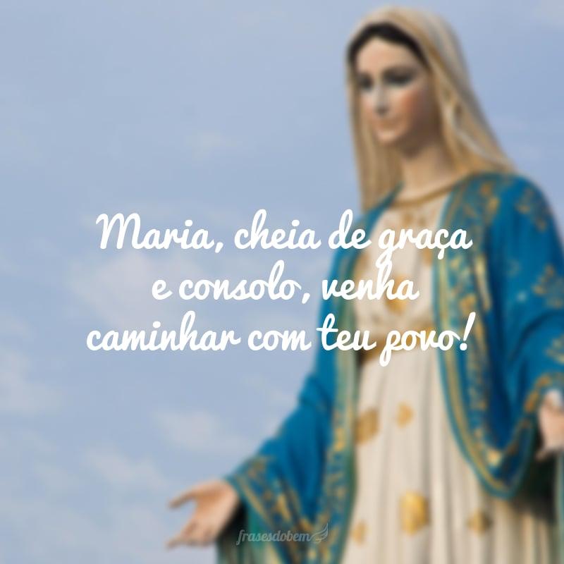 Maria, cheia de graça e consolo, venha caminhar com teu povo!