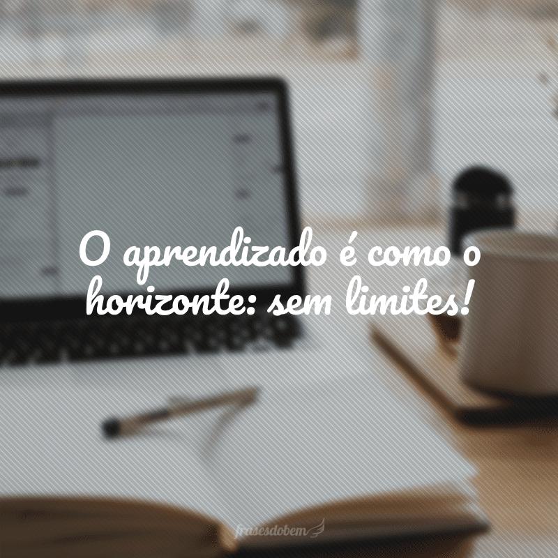 O aprendizado é como o horizonte: sem limites!