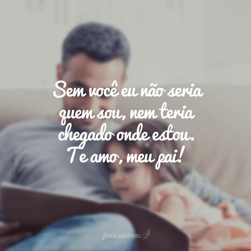 Sem você eu não seria quem sou, nem teria chegado onde estou. Te amo, meu pai!