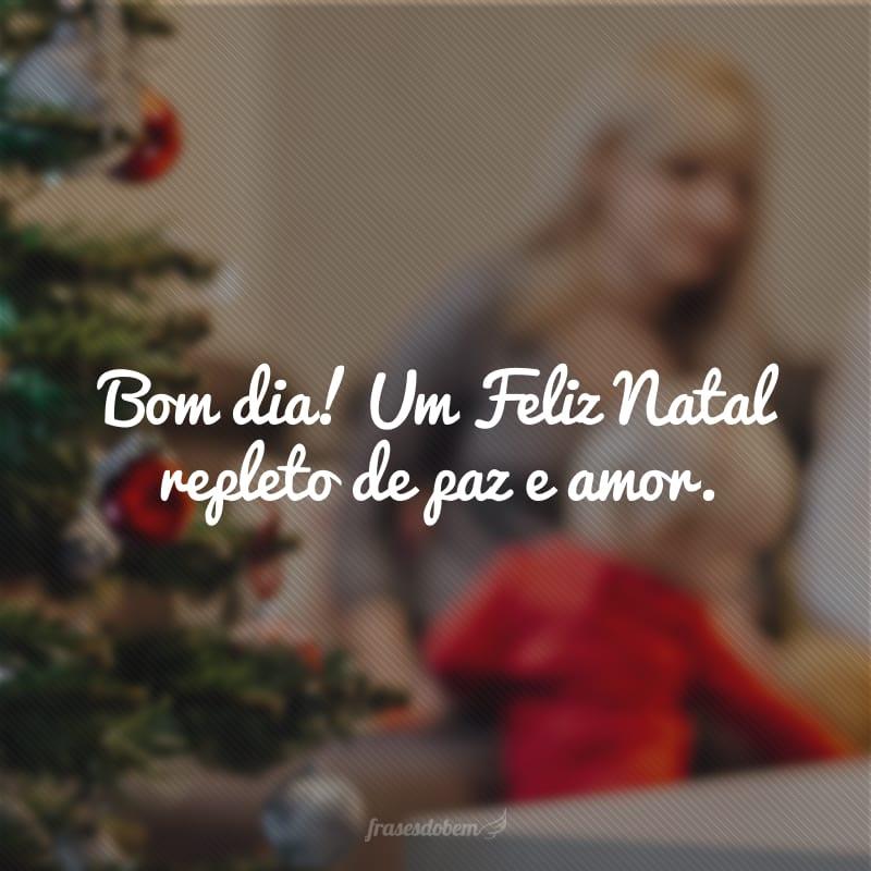 Bom dia! Um Feliz Natal repleto de paz e amor.