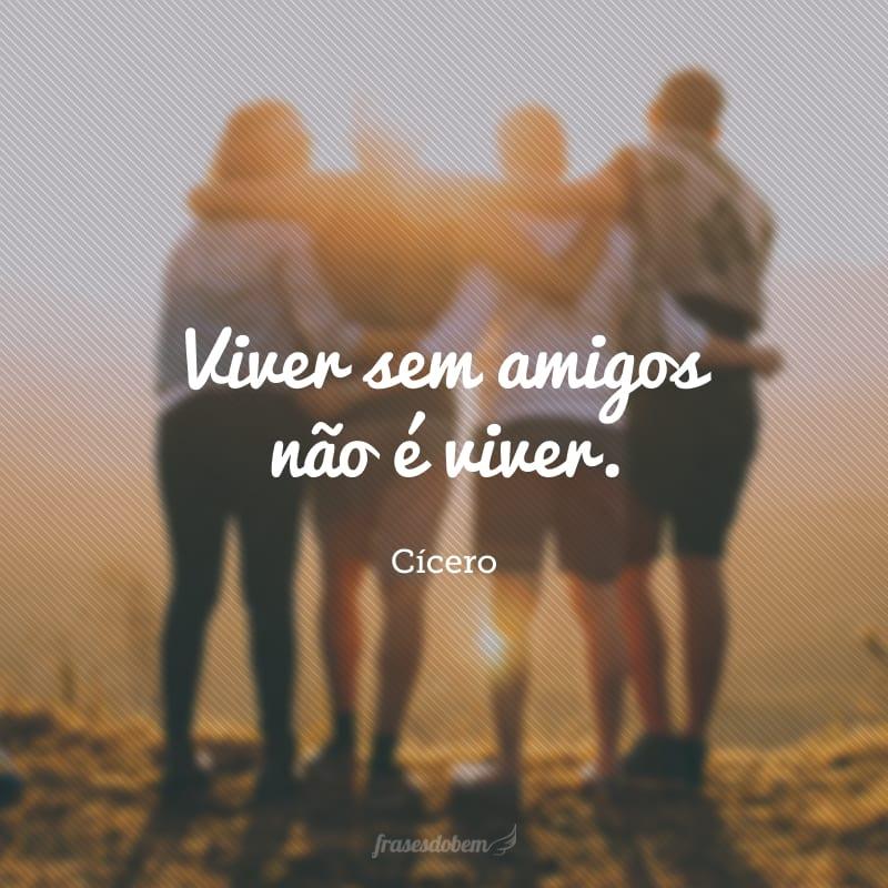 Viver sem amigos não é viver.