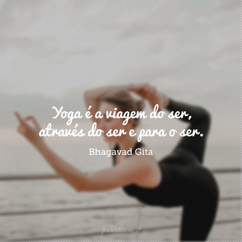 Yoga é a viagem do ser, através do ser e para o ser.