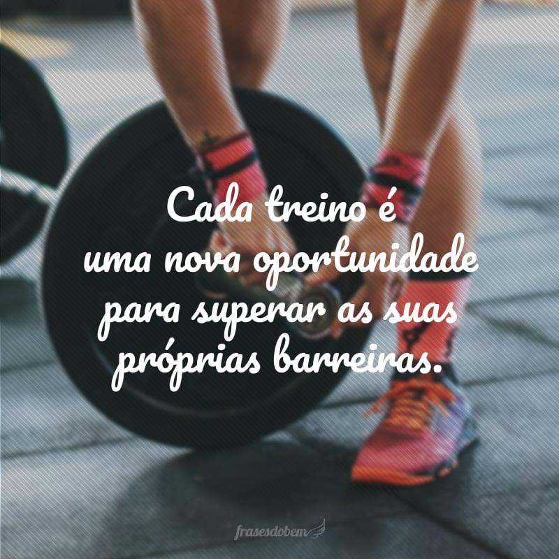 Cada treino é uma nova oportunidade para superar as suas próprias barreiras.