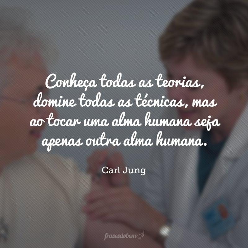 Conheça todas as teorias, domine todas as técnicas, mas ao tocar uma alma humana seja apenas outra alma humana.