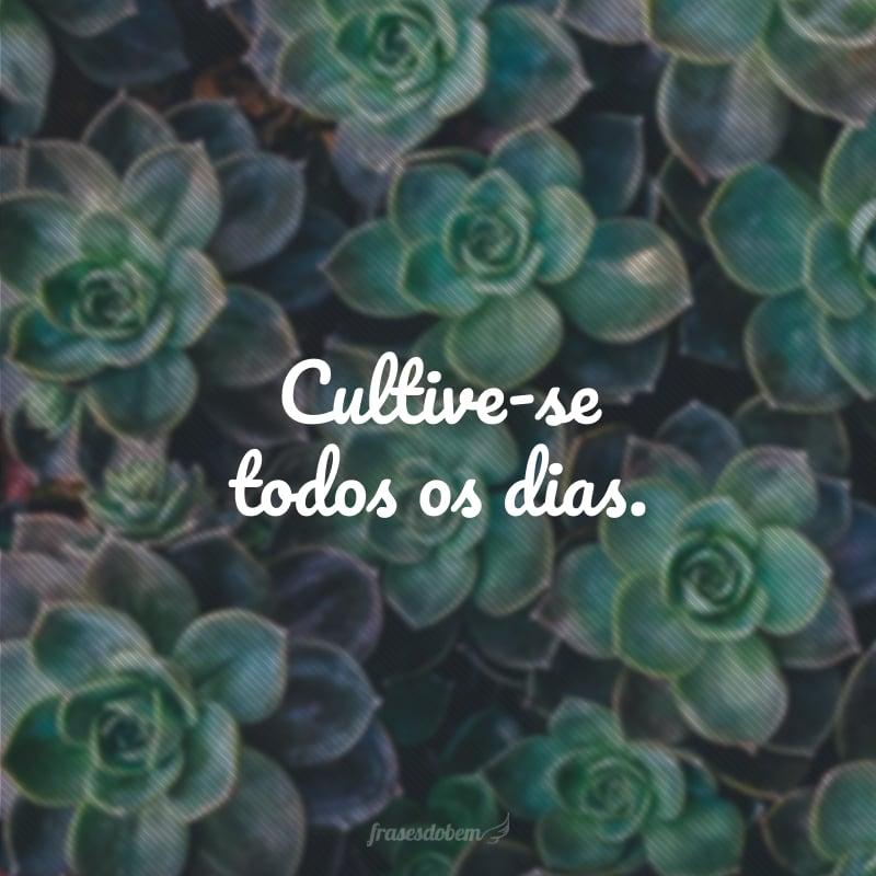 Cultive-se todos os dias.