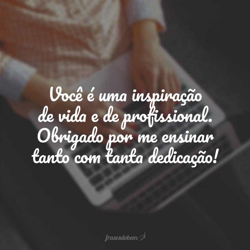 Você é uma inspiração de vida e de profissional. Obrigado por me ensinar tanto com tanta dedicação!