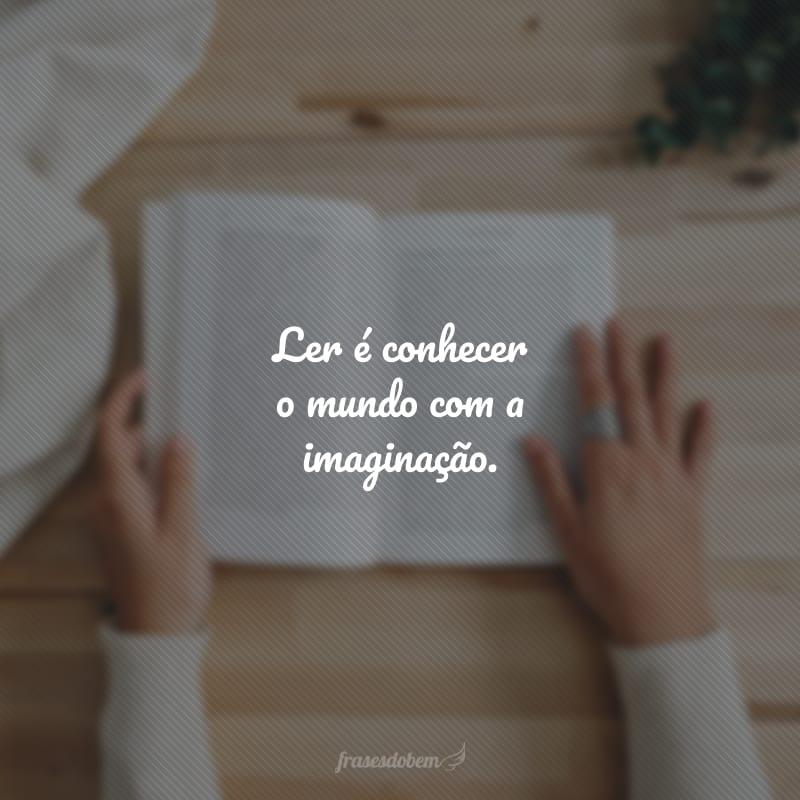 Ler é conhecer o mundo com a imaginação.