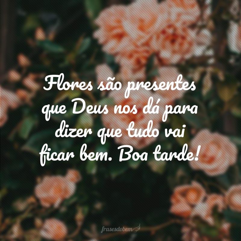 Flores são presentes que Deus nos dá para dizer que tudo vai ficar bem. Boa tarde!